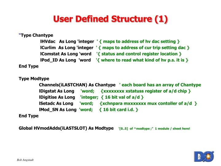 User Defined Structure (1)