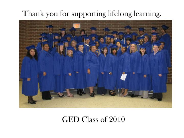 Thank you for supporting lifelong learning.