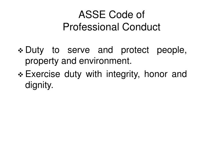 ASSE Code of