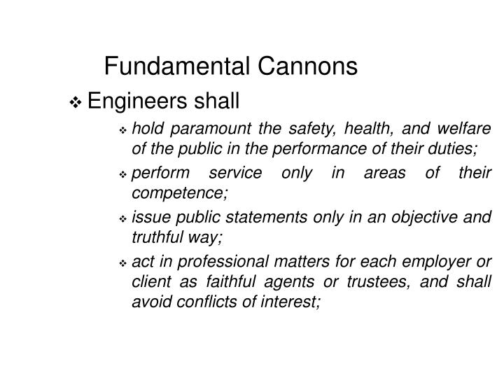 Fundamental Cannons