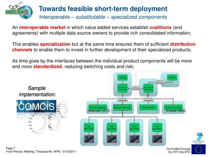 Towards feasible short-term deployment
