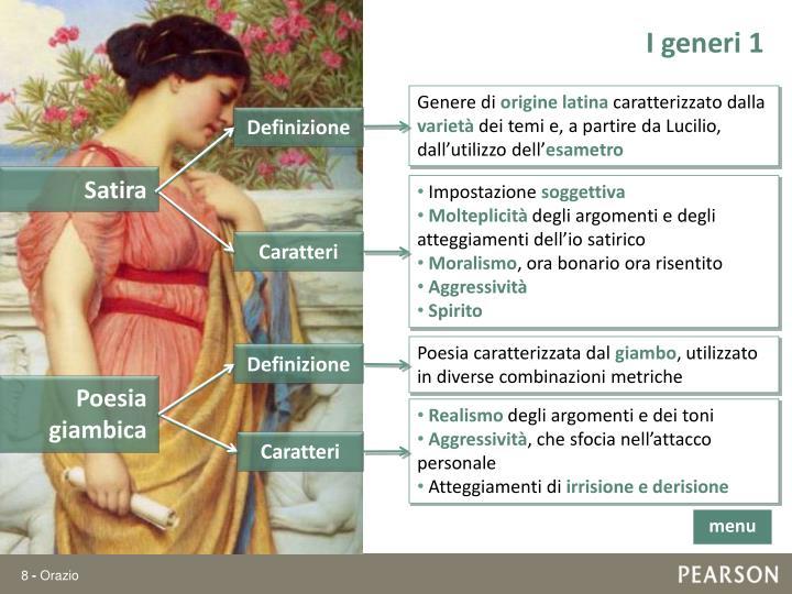 I generi 1