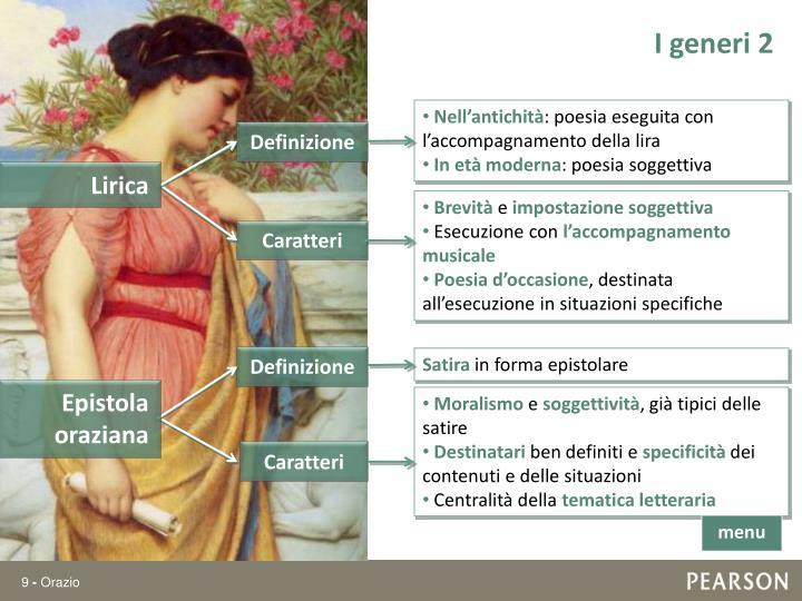 I generi 2
