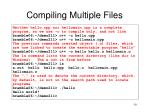 compiling multiple files