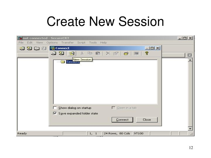 Create New Session