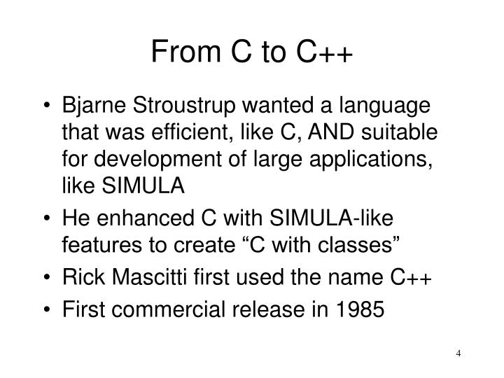 From C to C++