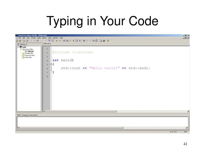 Typing in Your Code