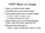very basic vi usage