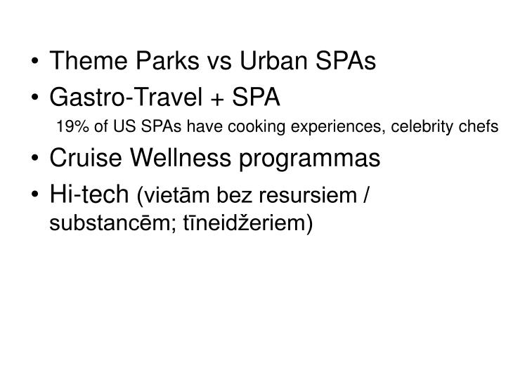 Theme Parks vs Urban SPAs