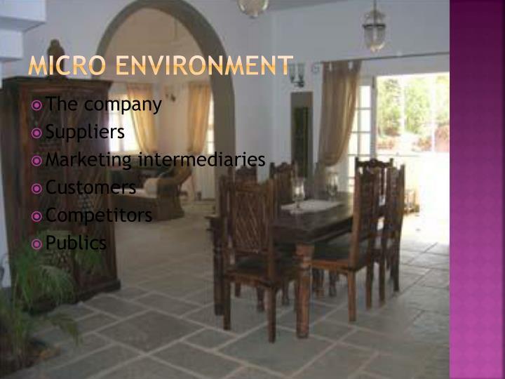 Micro environment