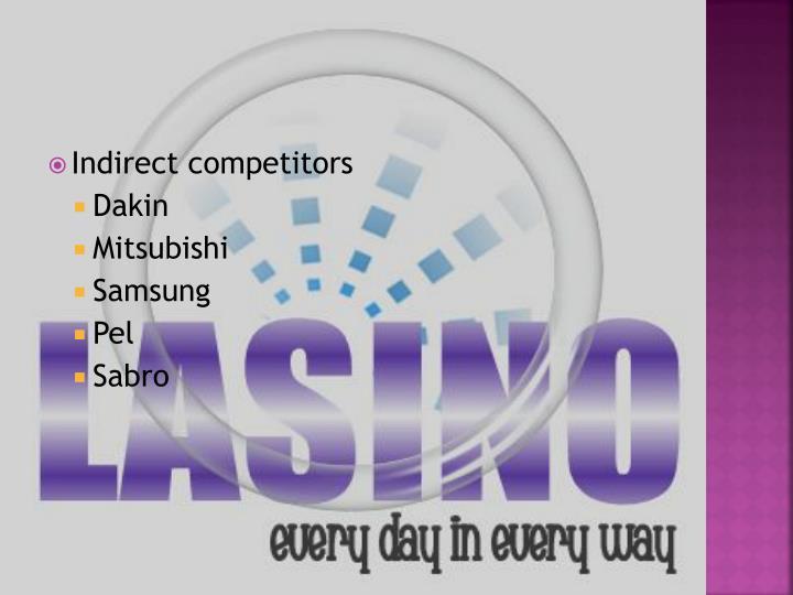 Indirect competitors