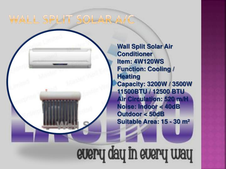 Wall split solar a/c