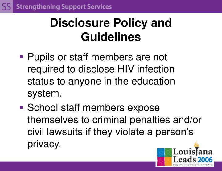 Disclosure Policy and Guidelines