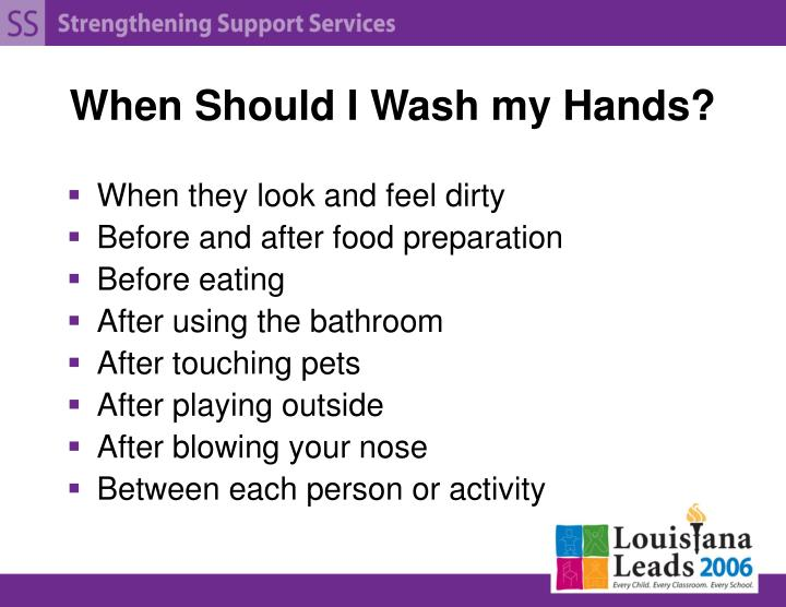 When Should I Wash my Hands?