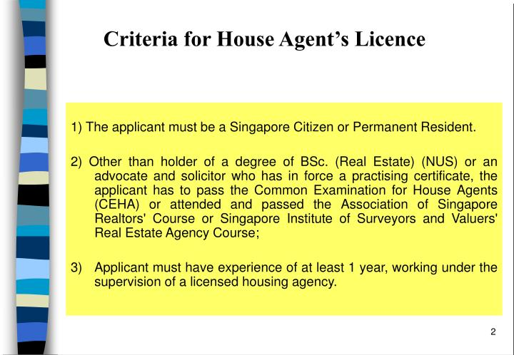 Criteria for house agent s licence1