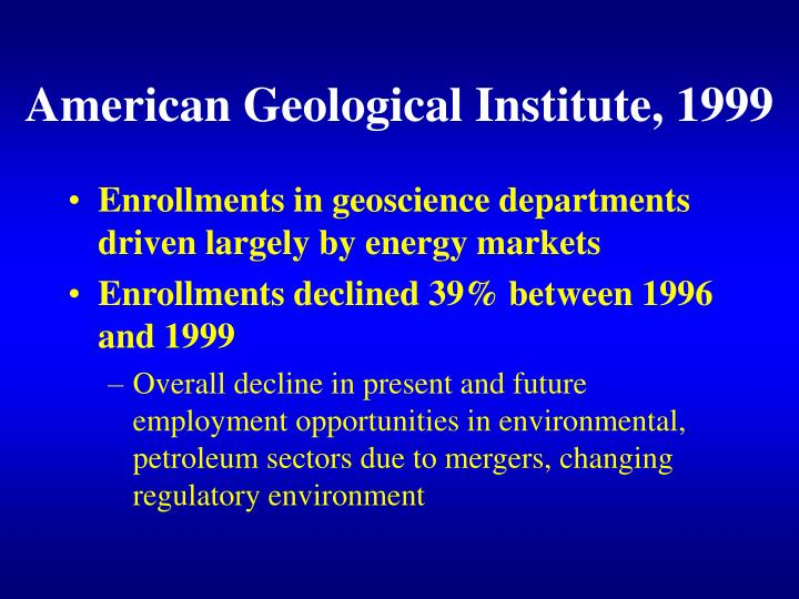 American Geological Institute, 1999