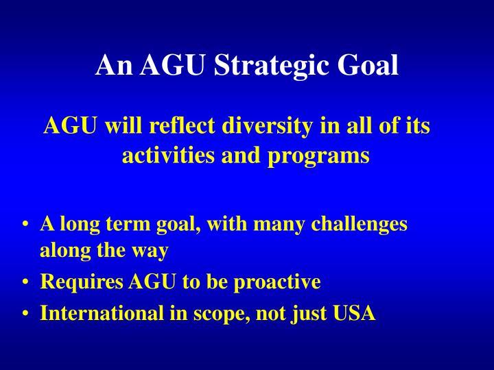 An AGU Strategic Goal