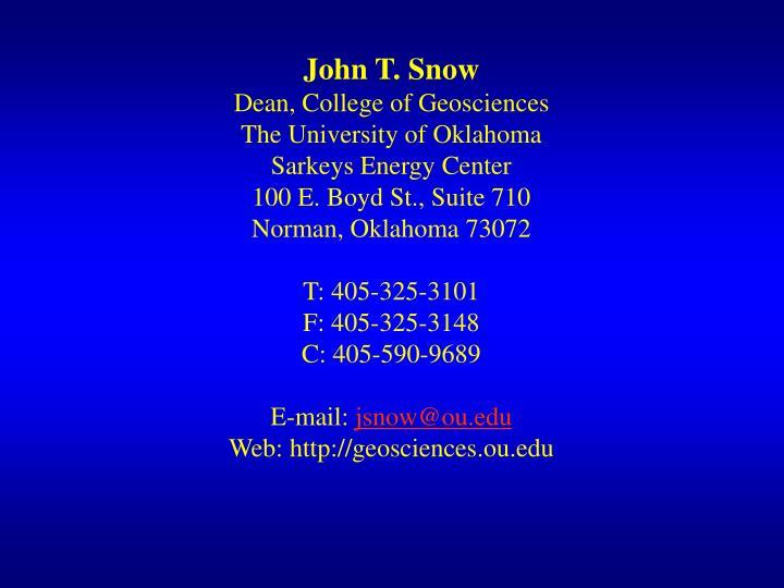 John T. Snow