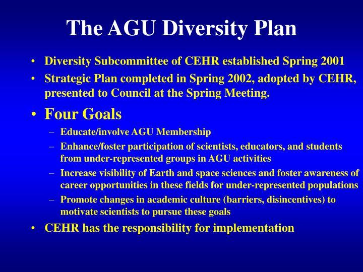 The AGU Diversity Plan