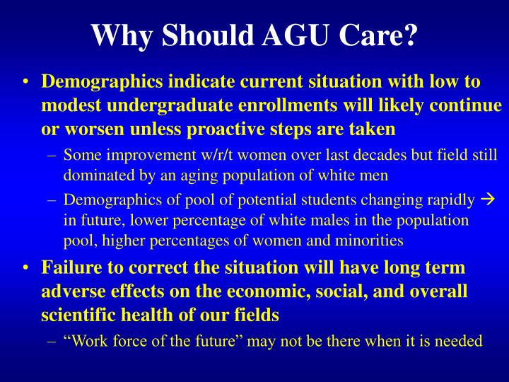 Why should agu care1