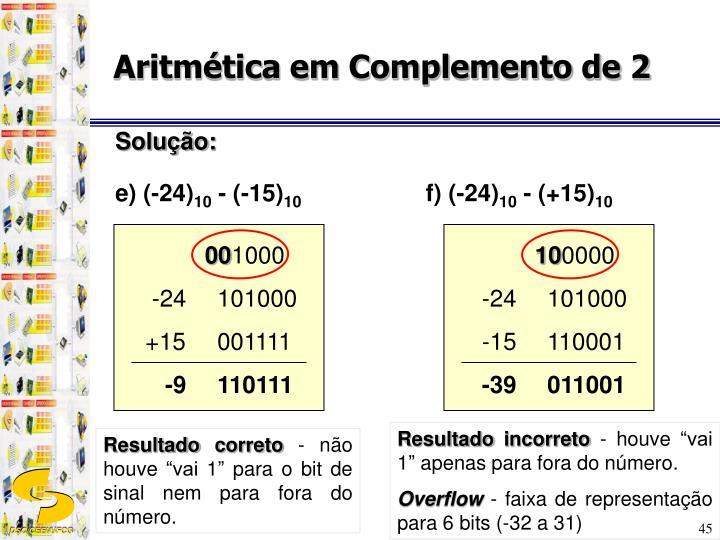 Aritmética em Complemento de 2