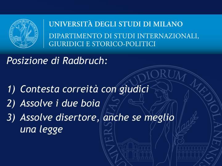 Posizione di Radbruch: