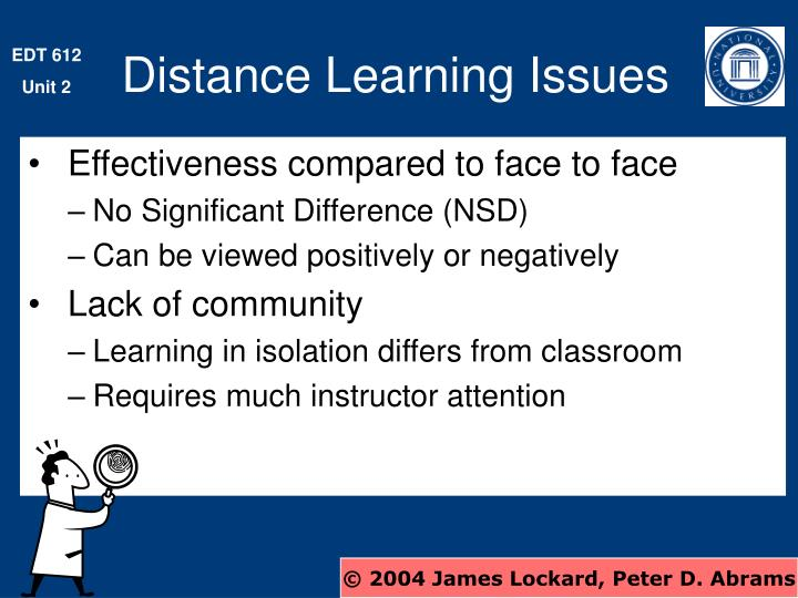 Distance Learning Issues