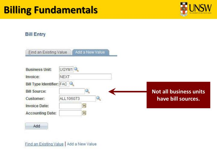 Billing Fundamentals