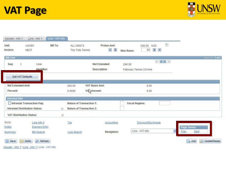VAT Page