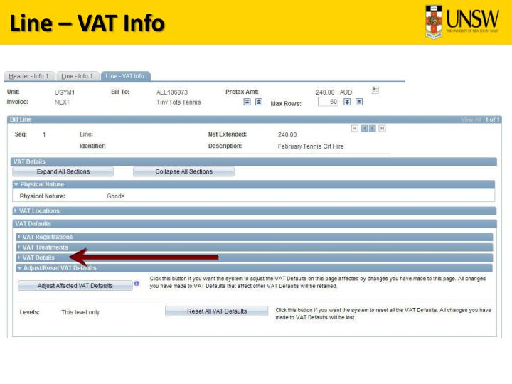 Line – VAT Info