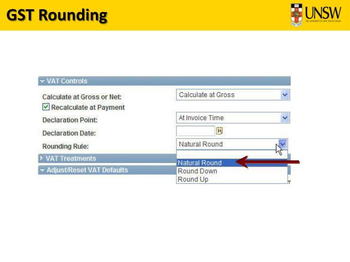 GST Rounding