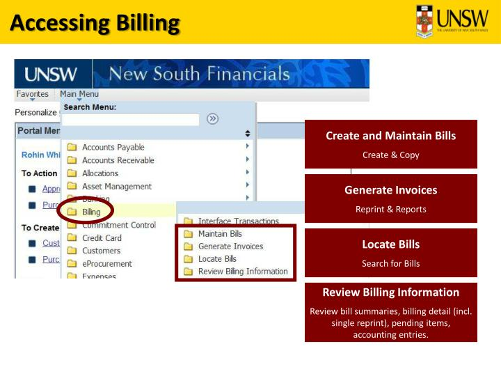 Accessing Billing
