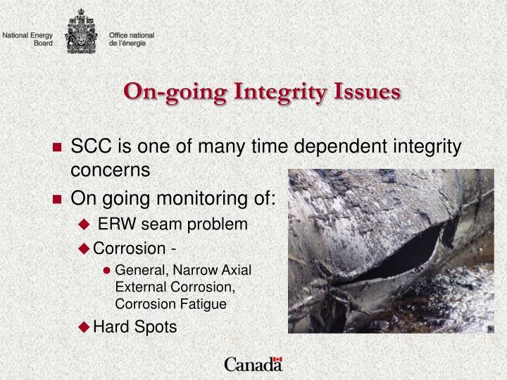 On-going Integrity Issues