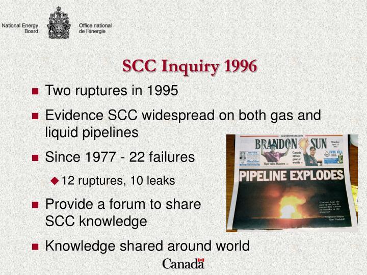 SCC Inquiry 1996