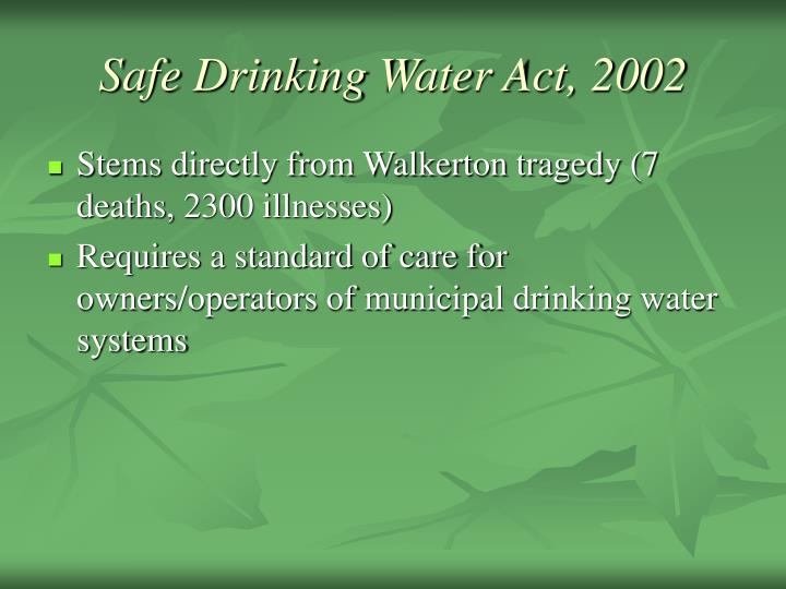 The positive impact of the safe drinking water act sdwa in the us