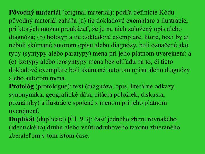 Pôvodný materiál