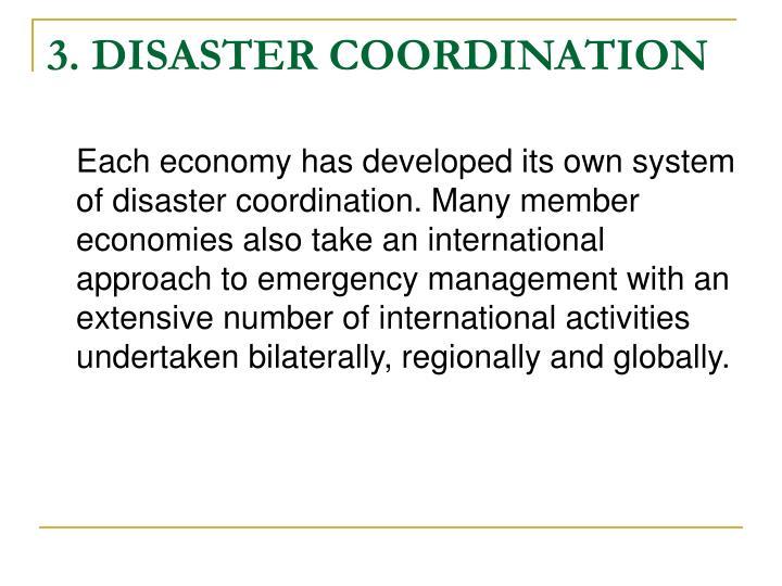 3. DISASTER COORDINATION