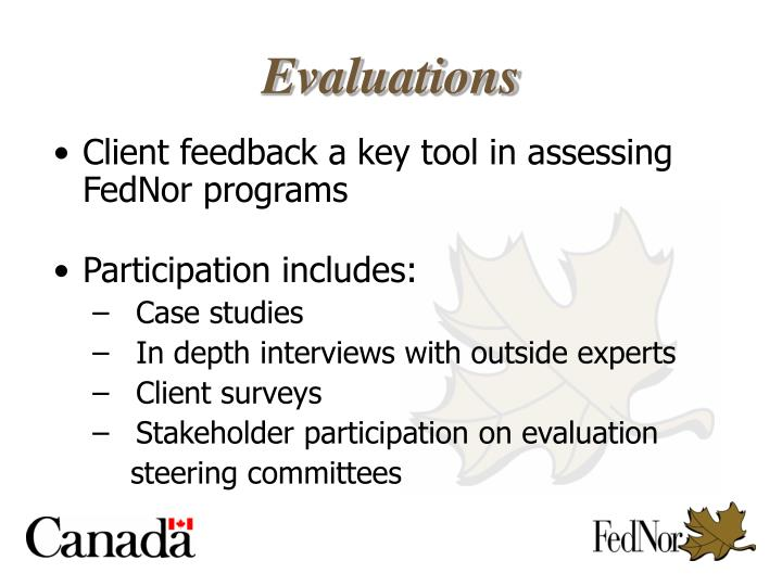 Client feedback a key tool in assessing FedNor programs
