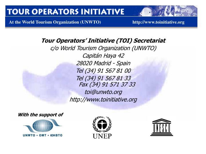 Tour Operators' Initiative (TOI) Secretariat