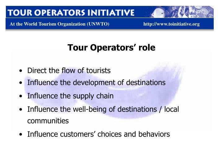 Tour Operators' role