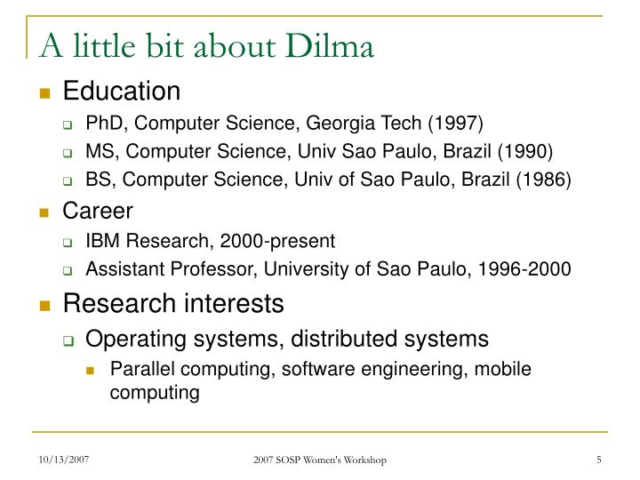 A little bit about Dilma