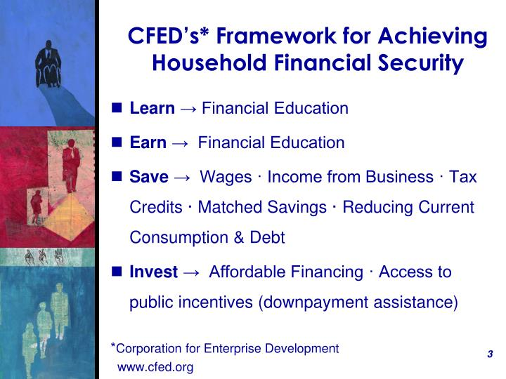 Cfed s framework for achieving household financial security