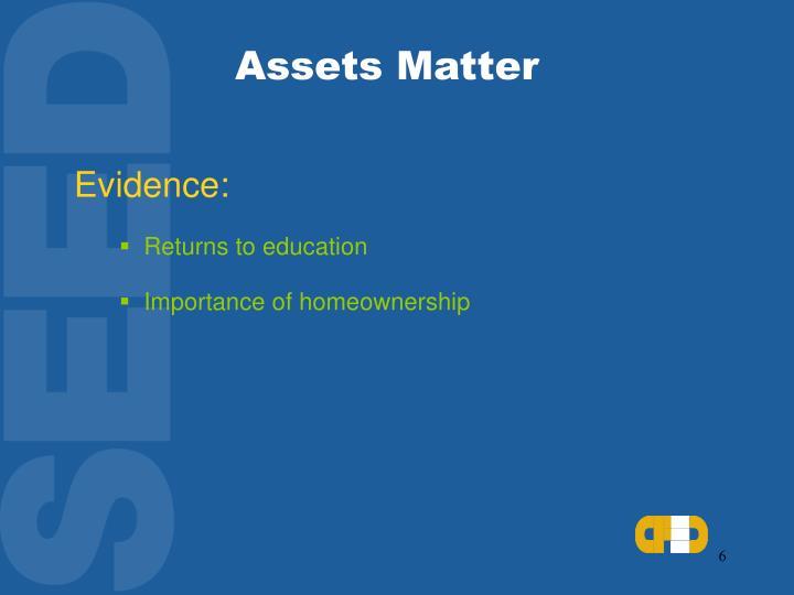 Assets Matter