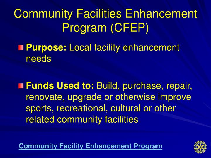 Community Facilities Enhancement Program (CFEP)