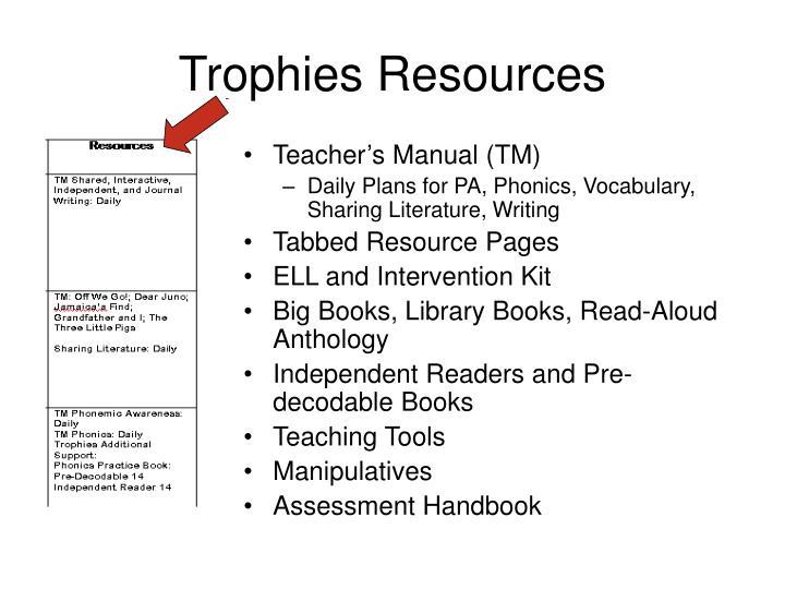 Teacher's Manual (TM)