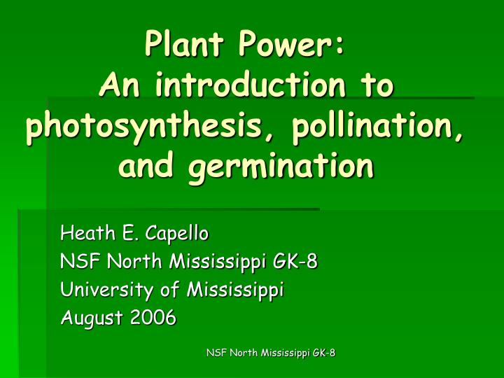 an introduction to photosynthesis Home: curricula: basic science: studying: introduction to cell respiration and photosynthesis for students : introduction to cell photosynthesis.