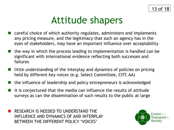 Attitude shapers