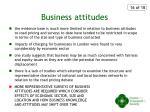 business attitudes