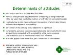 determinants of attitudes