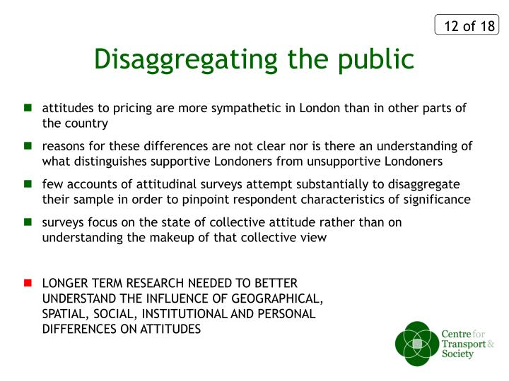 Disaggregating the public